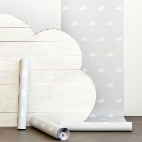 For chimney breast? Clouds Wallpaper kids - WALLPAPER - Decoration - KIDS COLLECTION | Zara Home United Kingdom