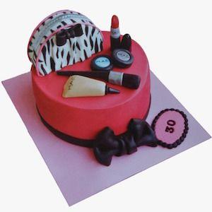 makyaj doğum günü pastası, makyaj butik pasta, ankara butik pasta, Morde bayan makyaj pastası