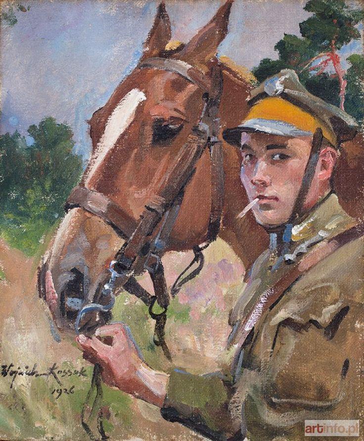 Wojciech KOSSAK ● Ułan z koniem, 1926 r. ●