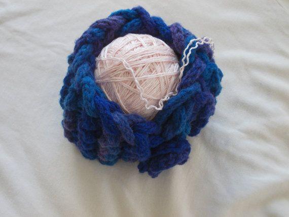 Оголовье Трикотажное головная повязка Шерсть головная повязка Синий головная повязка на Monpasier