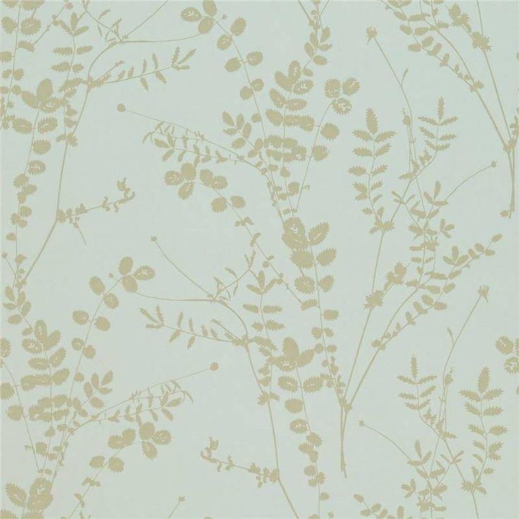 Duck egg / Pewter - 110161 - Salvia - Kallianthi - Harlequin Wallpaper
