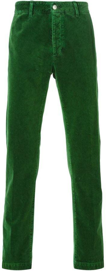 €170, Pantalon chino vert foncé Massimo Alba. De farfetch.com. Cliquez ici pour plus d'informations: https://lookastic.com/men/shop_items/329472/redirect