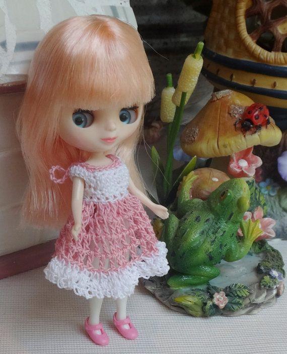 Crochet Dress Full Skirt for 4.25 inch 11 by dollcrochetboutique