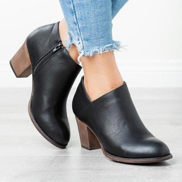 Gabriela Super Wygodne I Stylowe Buty Damskie Na Kazda Okazje Star Moda Low Heel Ankle Boots Black Pumps Boots Womens Ankle Boots