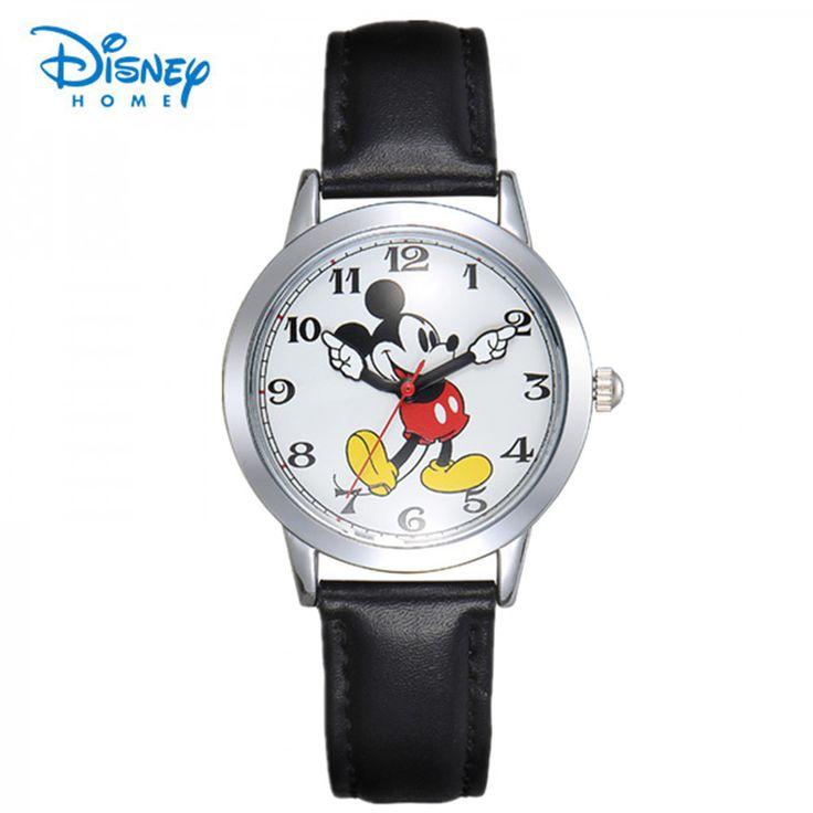 100% Подлинная Диснея дети Микки Маус мультфильм смотреть мода цифровые Наручные Часы Relogio Часы повседневная кварцевые часы кожа #jewelry, #women, #men, #hats, #watches, #belts, #fashion