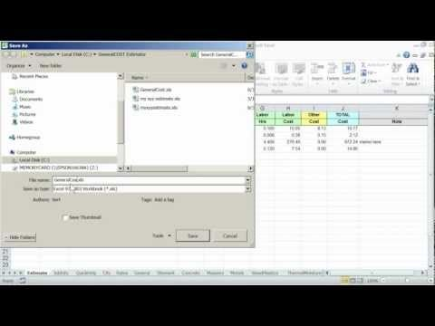Construction cost estimator General Cost Estimator for Excel Sheet