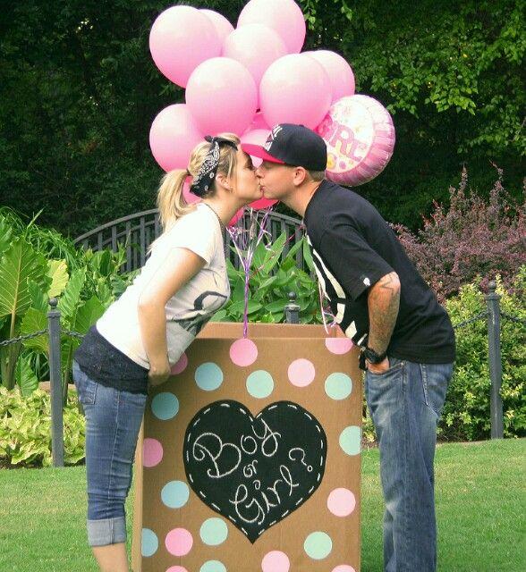 Gender Reveal Balloon Box Baby Pinterest So Cute