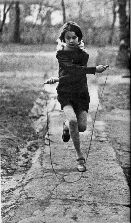 Skipping rope...the simple entertainment pleasures of my childhood...
