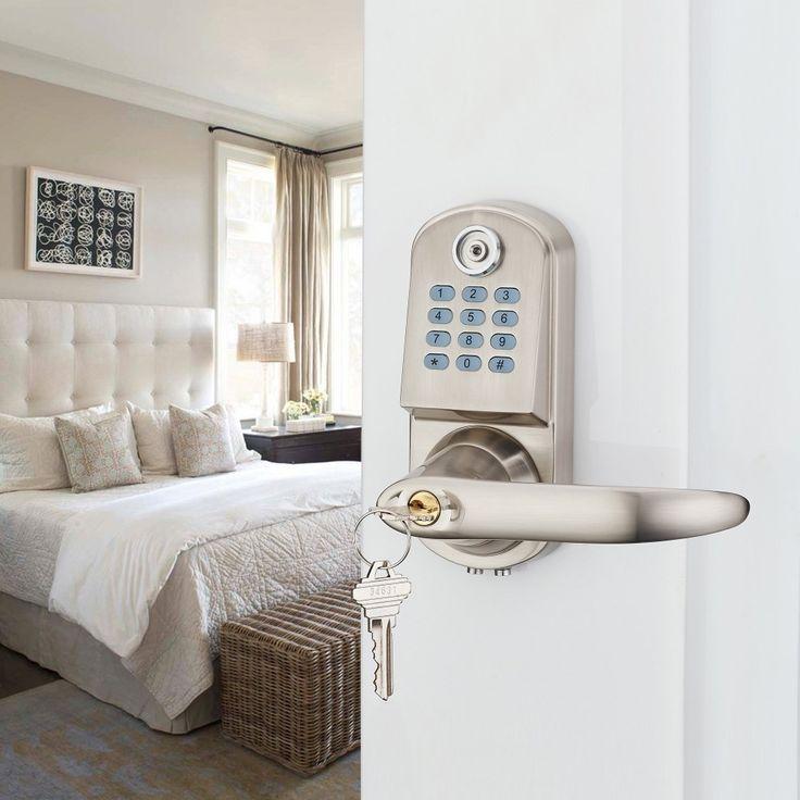 109.65$  Buy here  - Home Security Electronic Digital Code Keyless Keypad Entry Door Lock ID Reader password code spring bolt NSD-TL-OS8015TM