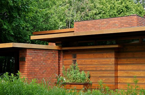 Herbert Jacobs House I. Frank Lloyd Wright. Madison, Wisconsin, 1937. The first Usonian home