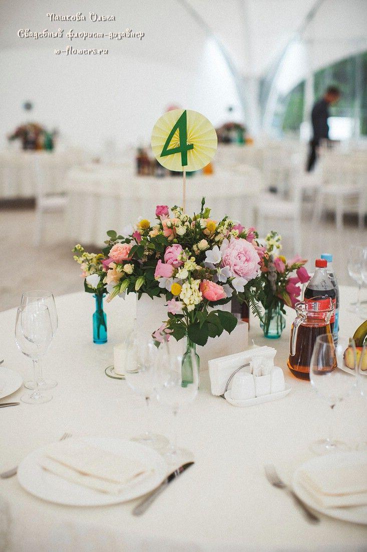 Композиции на столы гостей. Флористика и декор Пашкова Ольга. Фото Слава Семенов. #декор #свадьба #столы #гостей
