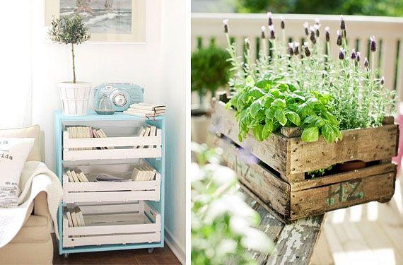 Cajas de fruta de madera buscar con google boxes for Muebles con cajas de fruta
