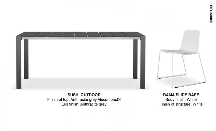 ‪#‎mondayidea the best way to start the week: we'll recommend a combination made through our website. Make your own combination, today we suggest an Outdoor idea: Sushi Outdoor Rama Slide Base Outdoor #outdoorfurniture #outdooridea #outdoorchair #outdoortable