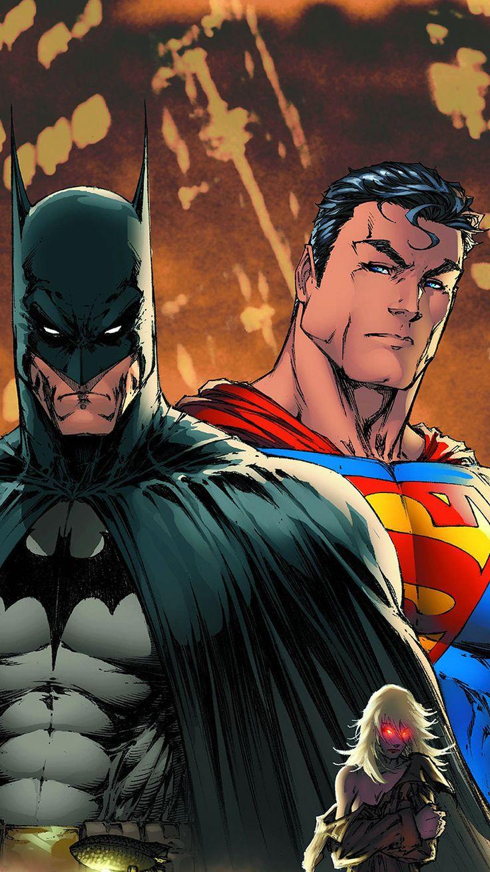 SUPERMAN BATMAN ART ILLUSTRATION ANIMATION WALLPAPER HD IPHONE