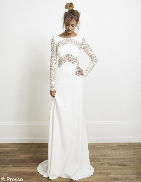 Rime Arodaky...I would have long sleeves on my wedding dress if it looked like this!