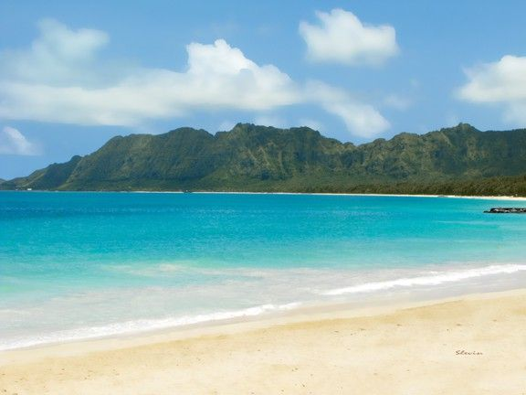 Bellows Beach, Oahu: this is along the coast between Kailua/Lanikai and Waimanalo- Spent many weekends camping out here.  Beautiful!