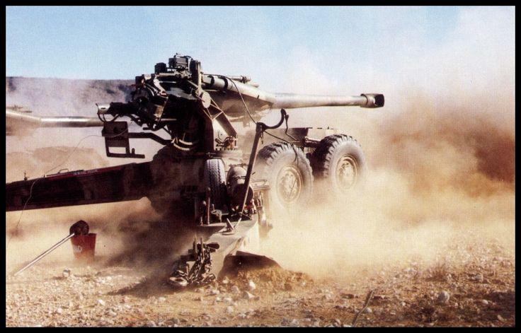 Die G-5 kanon wat gedeurende Operasie Moduler en Operasie Hooper met groot effek teen die FAPLA-magte