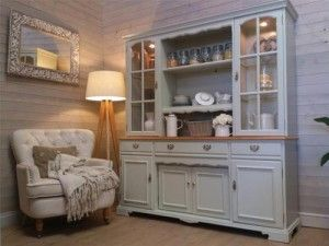 Huge Cherrywood Welsh Dresser Shabby Chic Painted Kitchen Unit Furniture F Ball