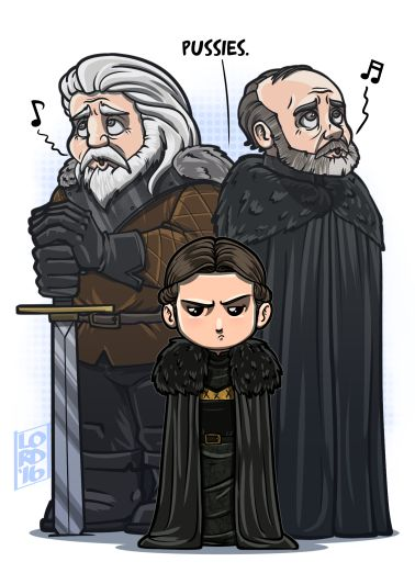 OMG, this is so great! Lady Lyanna Mormont FTW! Game Of Thrones - Lord Mesa