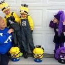 Here's Kylan, Caden and Kinzley in their Minion Halloween costumes and their Minion trick or treat bags I created. I'll tell you how to make them in a later post. I have to say they tur…
