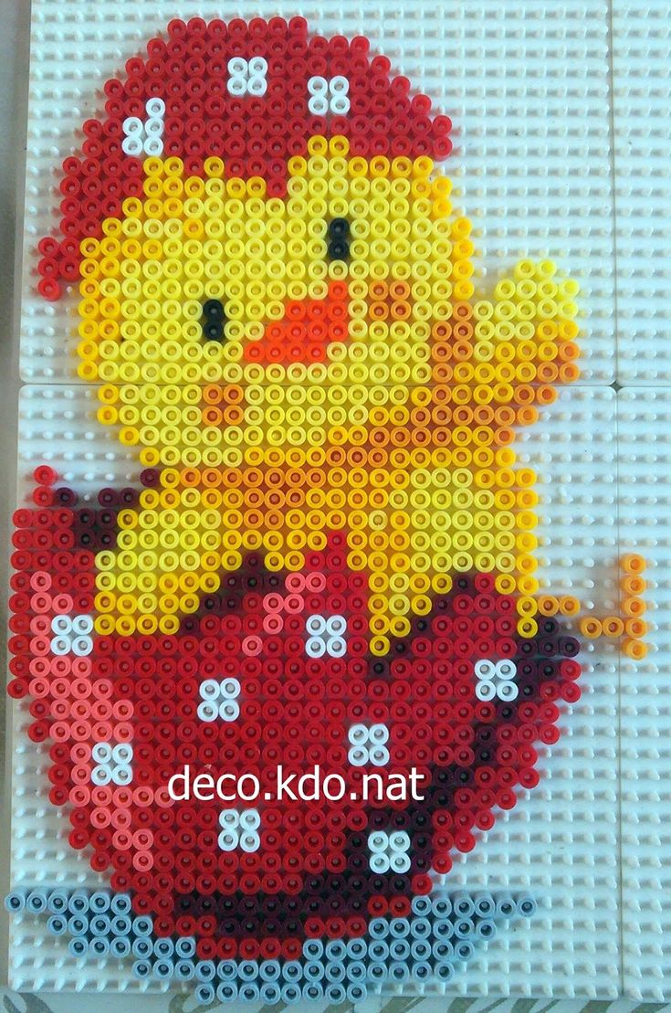Red Easter egg hama beads by deco.kdo.nat