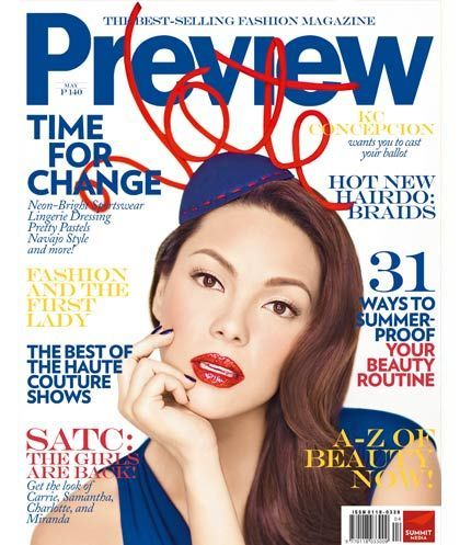 Preview Magazine [Philippines] (May 2010) KC Concepcion