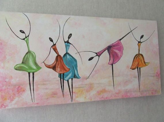 17 meilleures id es propos de peinture de ballerine sur pinterest art de - Idee tableau fait maison ...