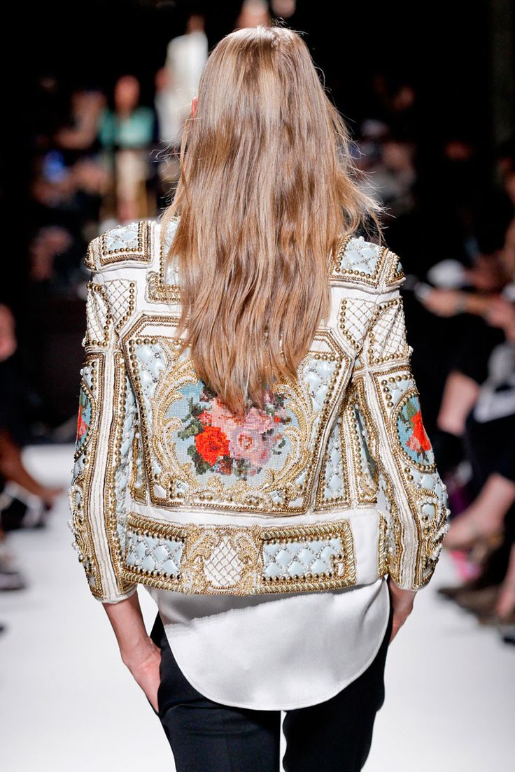 balmain jacket.: Balmain Fw, Style, Balmain Jackets, Dresses, Beautiful, Floral Jackets, Statement Jackets, Leather Jackets, Random Pin