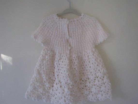 Baby Antique White Dress.