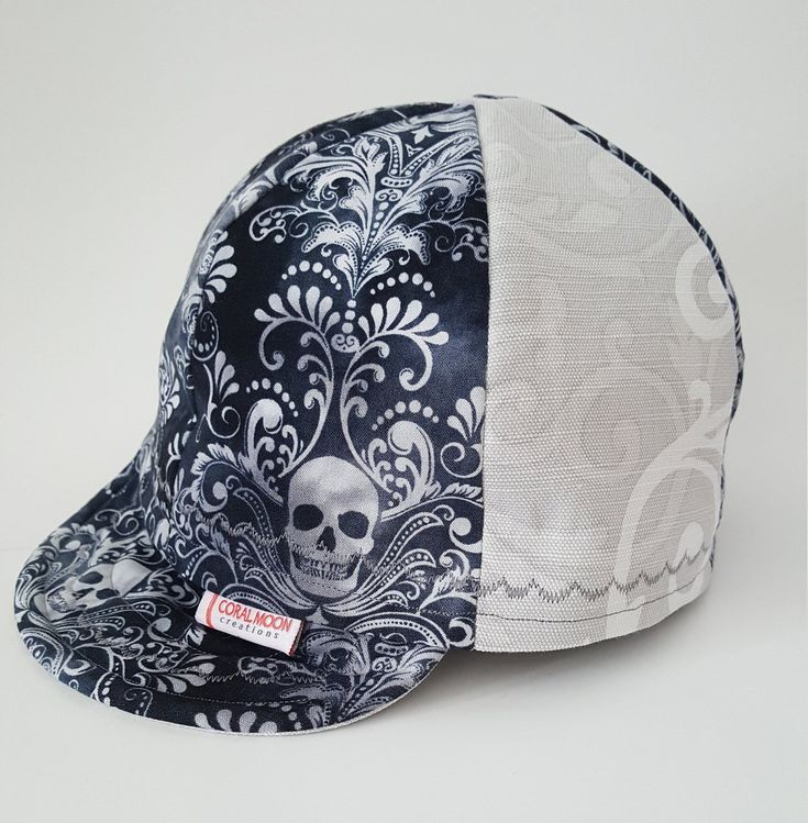 ba4d3b6e76d65 Cap with Skulls, Men's Hat, Women's Hat, Skull Cap, Custom Welding Cap,  Cycling Cap, Hardhat/Helmet Liner, Skate Cap, Biker Cap, Unique Cap by ...