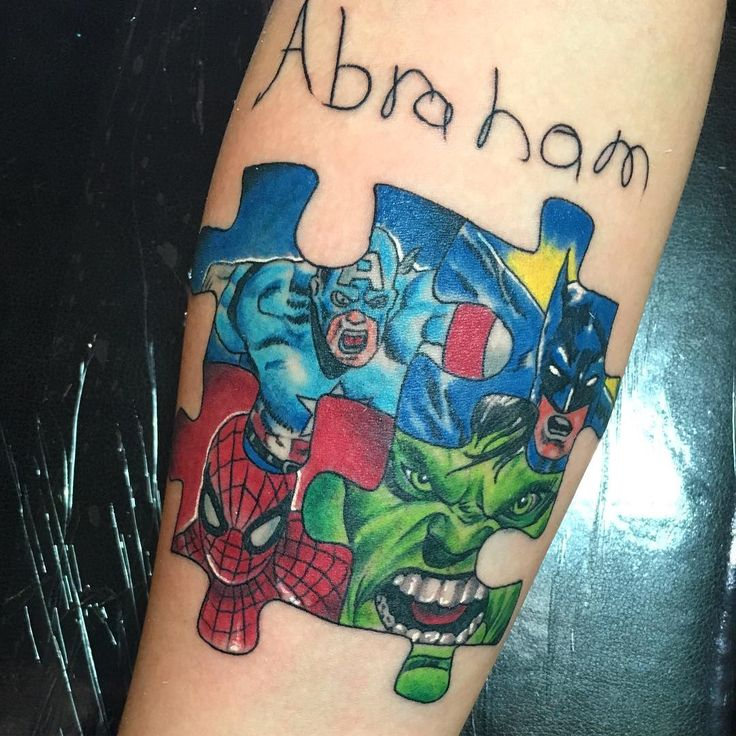35 Wonderful Autism Tattoo Ideas - Showing Awareness and Honor Check more at http://tattoo-journal.com/best-autism-tattoos/