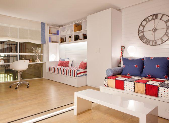 Mejores 13 im genes de dormitorios infantiles y juveniles - Habitacion juvenil barcelona ...