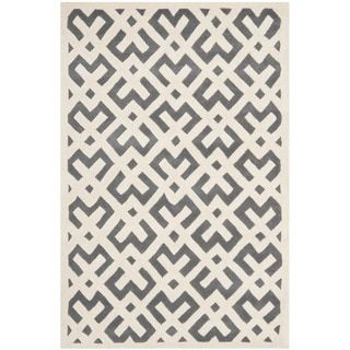 Safavieh Handmade Moroccan Chatham Dark Grey Wool Area Rug (8u0027 X 10u0027) By  Safavieh