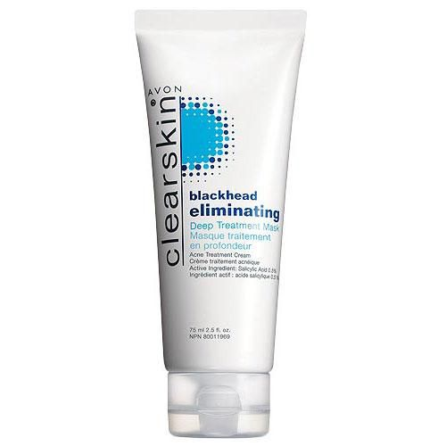 Helps eliminate most blackheads & prevent new ones from forming. Gets deep down to help clear blackheads. 2.5 fl. oz.  TO USE:  Apply a thin layer to face, let dry five minutes or until mask turns white. After mask has dried, rinse thoroughly. Pat dry with towel. Use 2-3 times per week. If bothersome dryness or peeling occurs, reduce frequency of application. #AvonRep