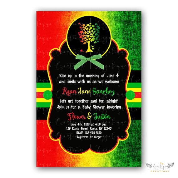 16 best Party Rasta Baby Shower images – Jamaican Party Invitations