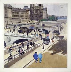 J. F. Willumsen - The Quays of Paris