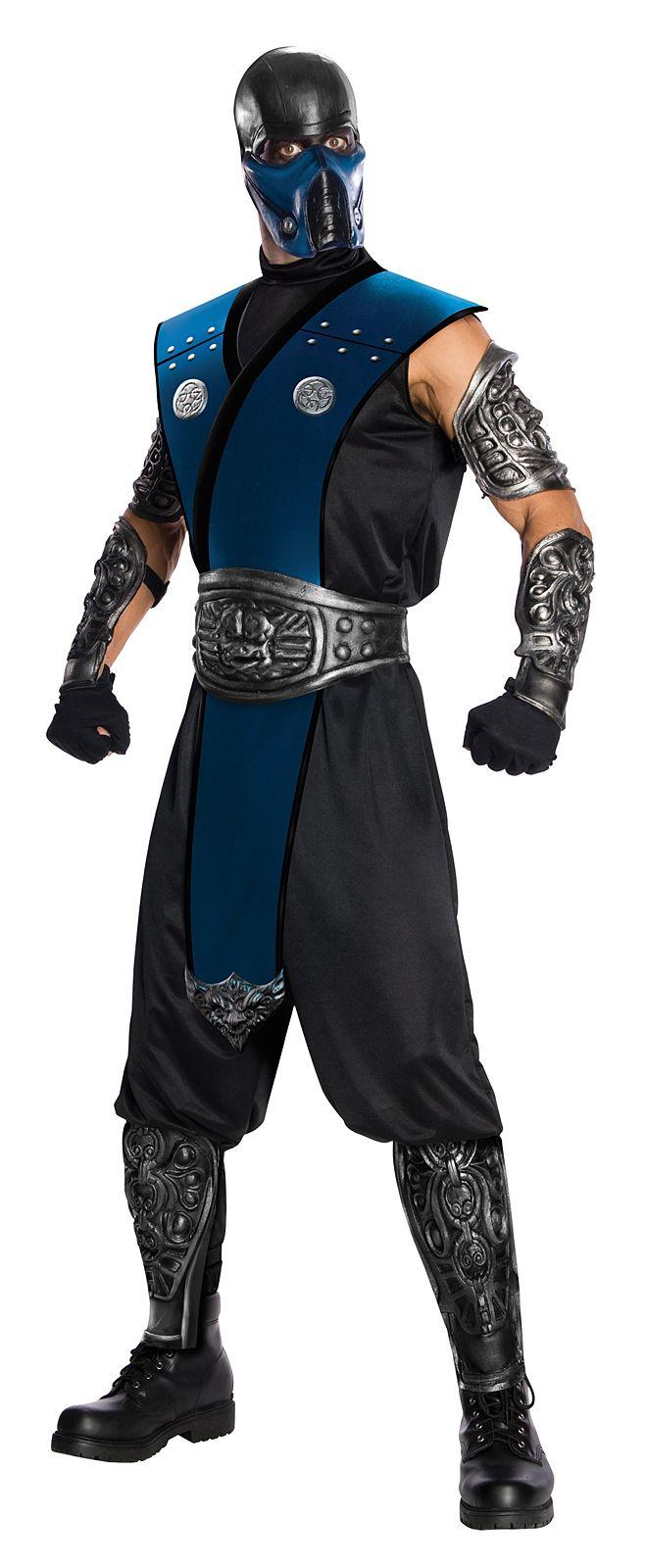 Mortal Kombat Subzero Ninja Mens Fancy Dress Up Halloween Costume Outfit + Mask,