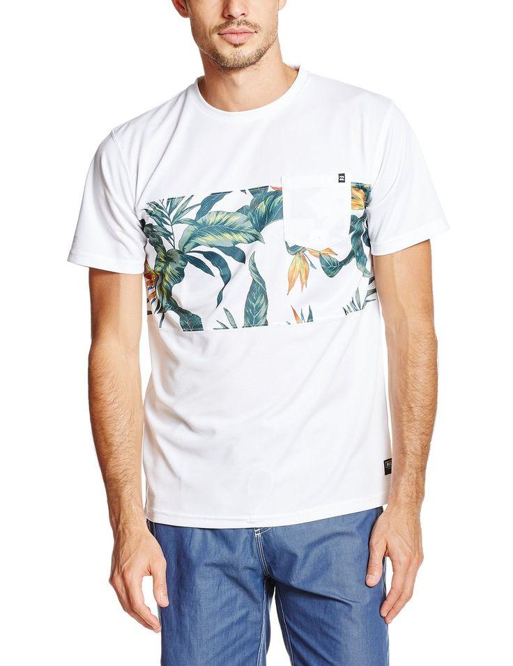 Amazon | (ビラボン)BILLABONG メンズ 半袖 リーフ柄 ラッシュガード Tシャツ 日焼け防止 UVカット (UPF50+) 【 RASH TEE 】 | Tシャツ・カットソー 通販