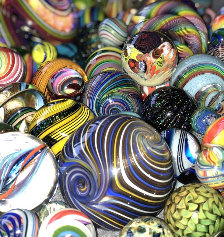 My Marbles - my collection includes glass artists such as Hot House Glass, Wald, Geoffrey Beetem, Eddie Seese, Douglas Ferguson, Richard Hollingshead, Dusty Gamble, Mike Gong, Fritz Lauenstein, James Alloway, Boomwire, Rick Davis, Dare Hawkins and more.
