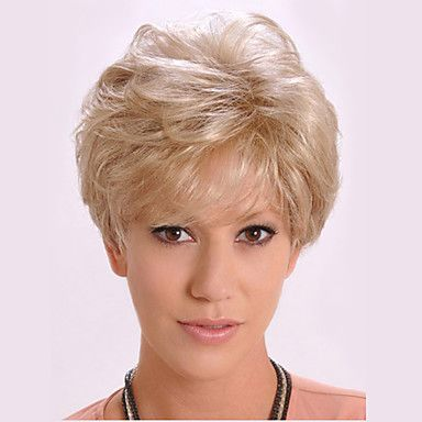 Short+Curly+Fluffy+Side+Bang+Synthetic+Wigs+for+Women+Golden+Heat+Resistant+Cheap+Cosplay+Wig+Hair+–+USD+$+12.87