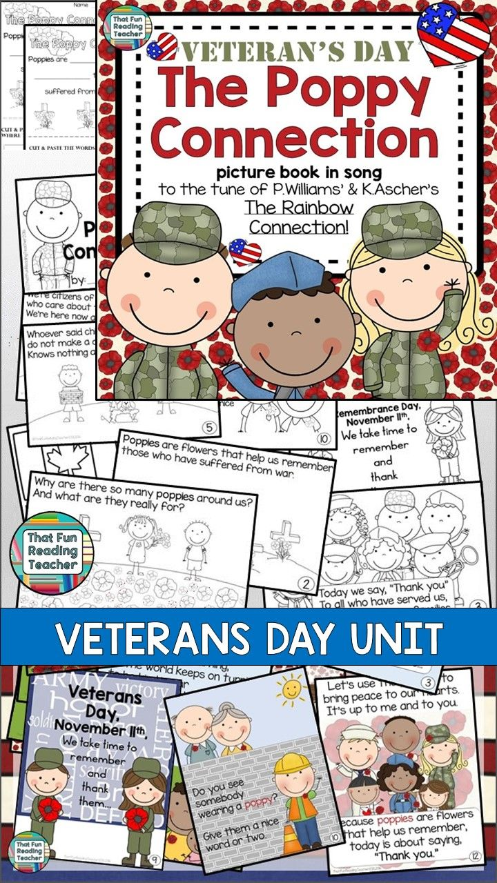 Veterans Day Song Storybook Unit - character education song, ideal for assembly #veteransday #poppy #poppies #kids #story #song #gratitude #veterans #schoolassembly #remember #poppyconnection #peace #free