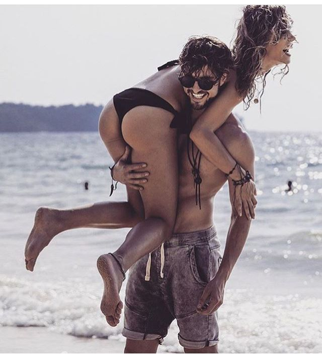 Couple Goal. Beach. Bikini. Love forever. You and me perfect two. Perfect day.Crazy us. Happiness. Togetherness. You're my hero.