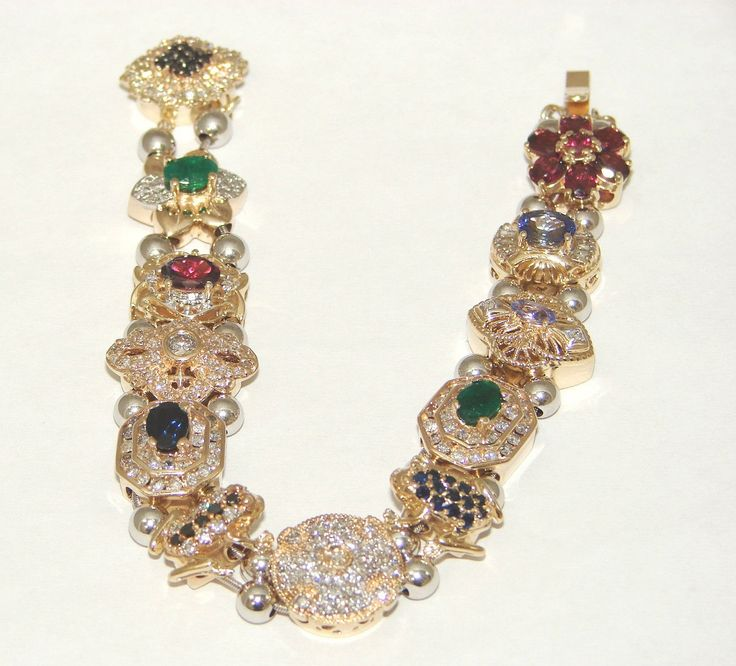 Diamond Slide Bracelet Gemstone Slider Charms Klein