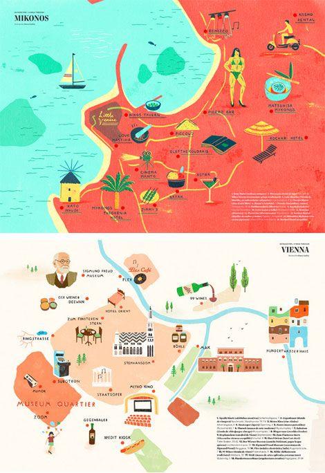 map illustration i love