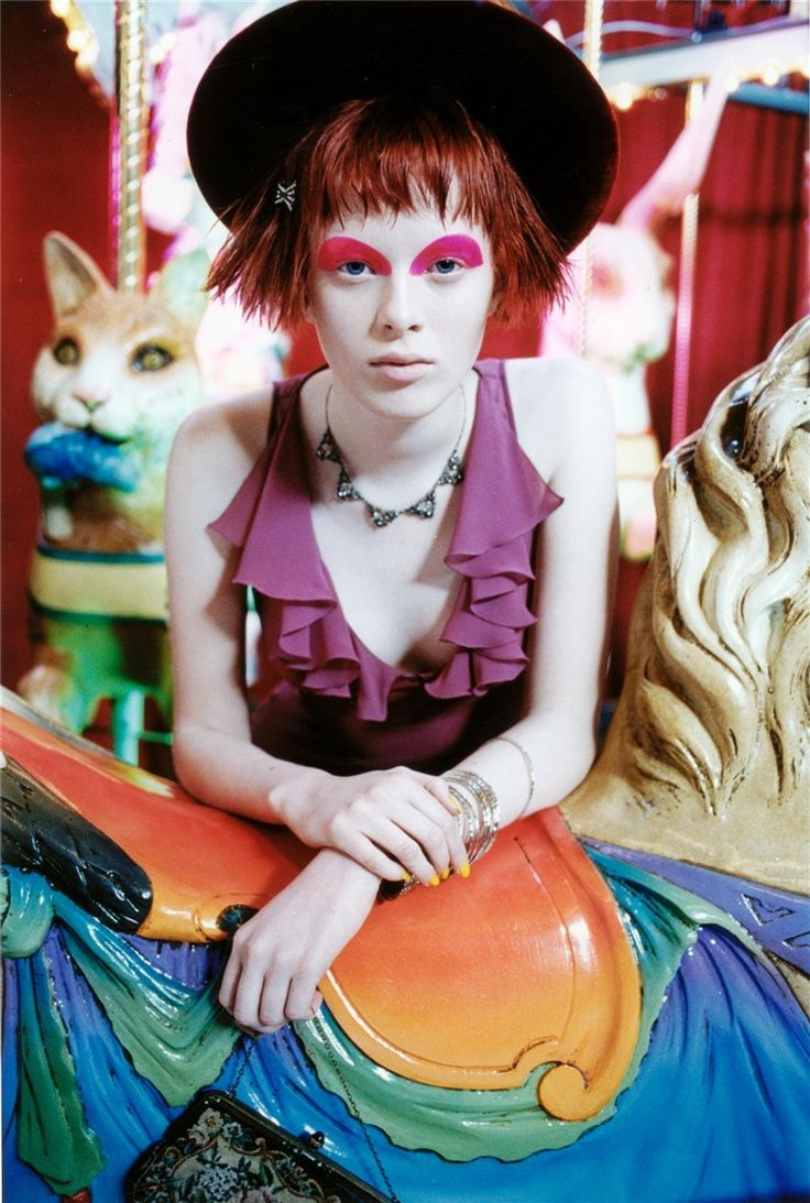 Karen Elson  Vogue Italia, circa 1997  Photographer: Steven Meisel