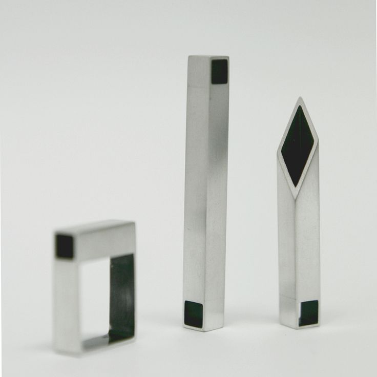 Silver square tube pendant (SHAPES collection)