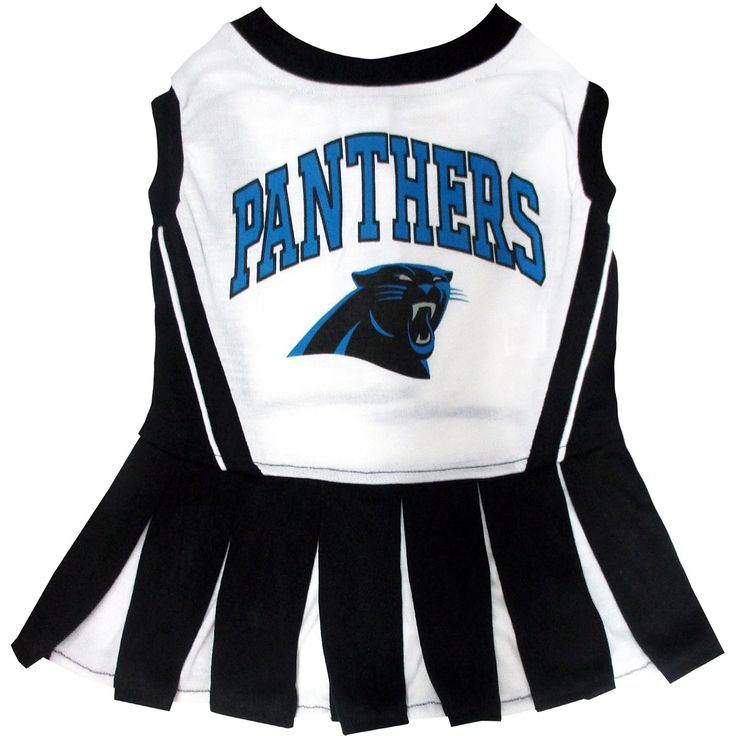 Pets First Carolina Panthers NFL Cheerleader Outfit, Medium | Petco Store