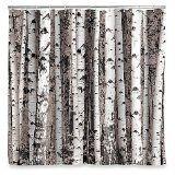 Kikkerland Shower Curtain, Birch Amazon $20 backdrop idea