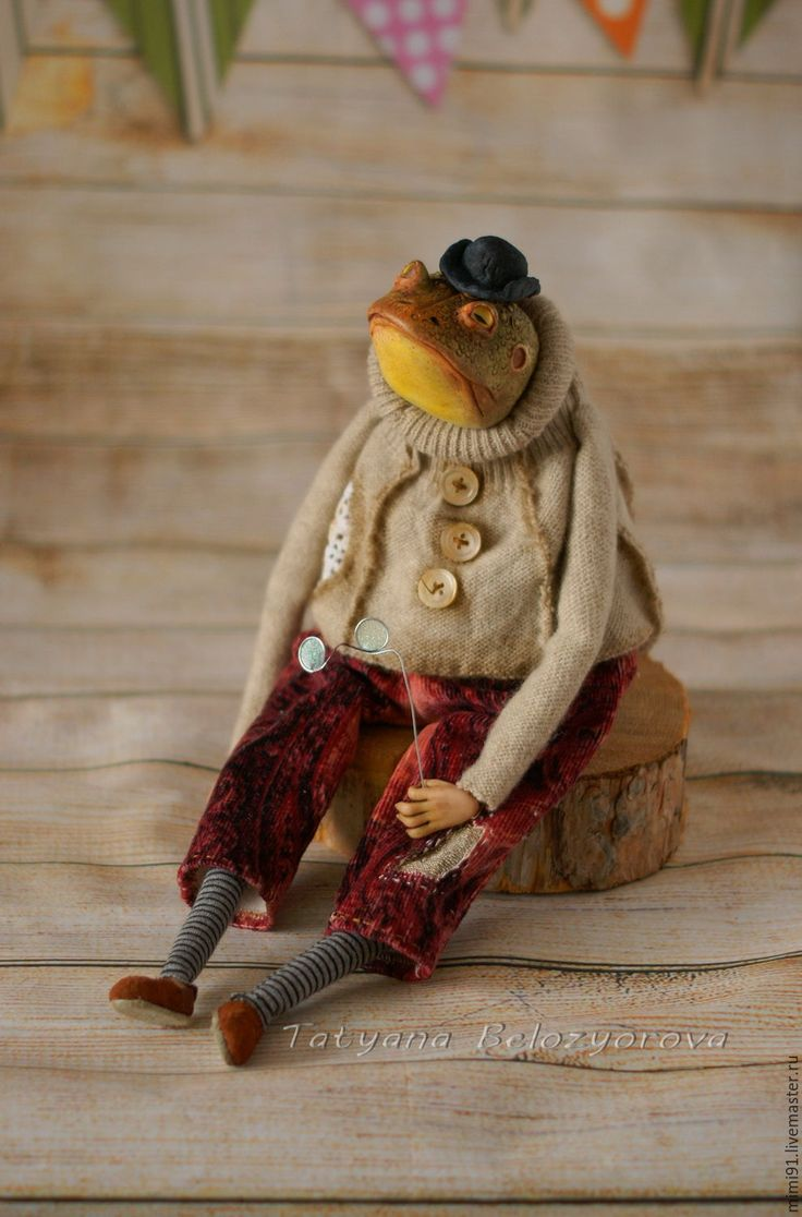 "Купить Мистер Жабс Зейн""О - комбинированный, жаба, лягушка, Будуарная кукла, ладолл, ливингдолл, Ладолл"