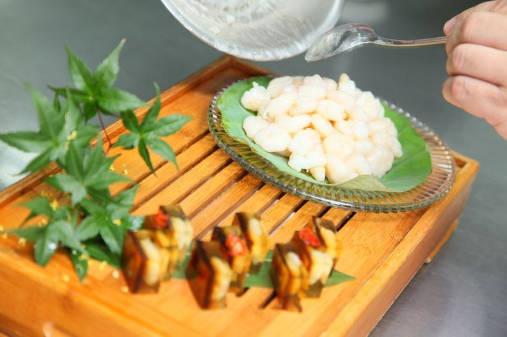 Let's put this dish together properly. Delicately lay the shrimps onto a plate. As they say, presentation is everything!  #giveaway #prize #contest #hangzhou #china #foodie #recipe #dishes #specialty #cuisine #food #orange #shrimp #longjingtea #tea #shrimp #seafood #savory #delights